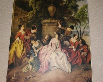 Master Painting Print of Edwardian Picnic Scene at Nestbox Vintage