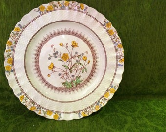 Copeland Spode Dinner Plate in Buttercup, Old Mark