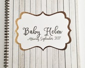 Personalized Pregnancy journal, ALL NEW PAGES,  expecting mom gift, maternity gift, pregnancy keepsake and book