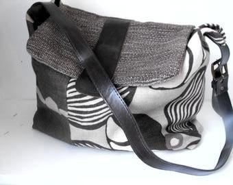 linen bag  handmade one of a kind eco sustainable fashion
