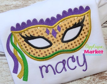 Machine Embroidery Design Embroidery Mardi Gras Mask INSTANT DOWNLOAD