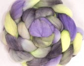 Sale fibre, Hand dyed Polwarth, Hand painted roving, Polwarth, Hand Painted top, roving, fiber, felting, Hand dyed spinning wool, Grace