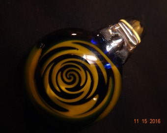 Mystical Yellow and Blue Wigwag Pendant