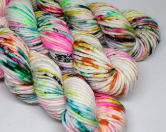 Big Rad Bulky - Hand Dyed Speckled Yarn - SW Merino/Nylon - 75 Yards - Shock Star
