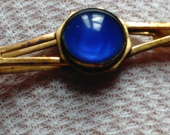 Antique Tie Clip, Blue type beautiful color stone or Cabochon