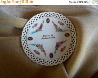 SALE Vintage Schumann Canada Montreal Souvenier Plate, Bavaria