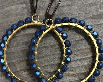 Midnight  Blue Hoops