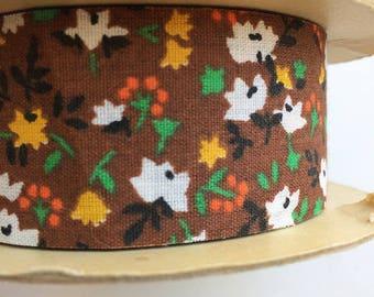 Charming Vintage Calico Floral Ribbon Trim on Spool Farmhouse Little House on the Prairie Style