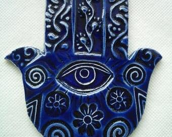 MBI - HAMSA Hand, Good Luck, Protection - Ceramic Mosaic Tiles