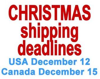 Cristmas Shipping Deadlines, Anatomical Heart