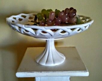 Antique Pitman Dreitzer Colony Lace Footed Centerpiece Bowl