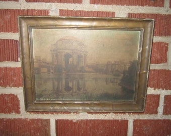 Antique 1915 Panama Pacific International Exposition San Francisco Palace of Fine Arts Souvenir Framed Print