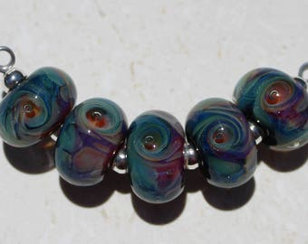 ST. TROPEZ Artisan boro beads by JRG