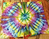 Ice Dyed Mandala Tie Dye Tapestry, Wall Hanging, or Tablecloth - Nebula -  38 x 30 - Ready to Ship