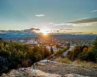 The Cut - Asheville, NC Sunset