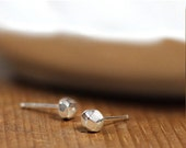ON SALE Sterling Facetted Stud Earrings- Free Shipping