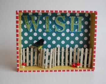 Story Box, Wish, Original Hand Crafted Diorama