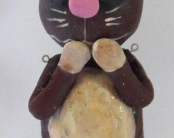 Fait sur commande poupée lapin en chocolat de Pâques Grimmy