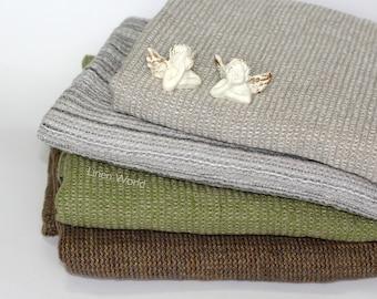 100% Linen Bath Towel   Soft Pure Flax Boho Bathroom Towel   Green Washed Waffle Linen Travel Towel   Natural Organic Kitchen Tea Towels