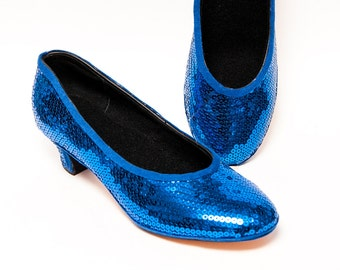 Sequin - Sapphire Blue French High Heels Pumps Shoes