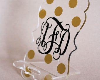 Cell Phone Holder, Acrylic Holder, Monogram Phone Holder, Personalized Phone Holder, Personalized, Custom Phone Holder, Graduation Gift