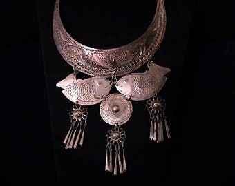 Vintage Hmong Tribal Ethnic Torque Collar Necklace
