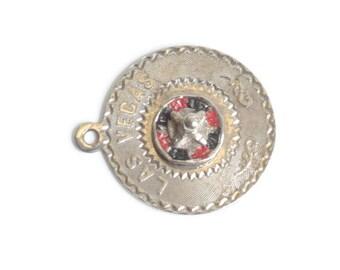 Las Vegas Roulette Wheel Charm Souvenir Spins Mechanical Vintage
