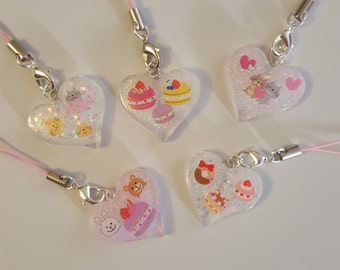 Resin Charm with Kawaii Stickers