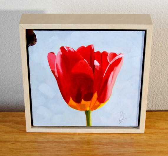 A Day In Monterey original tulip oil painting