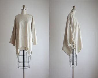 slouchy linen tunic