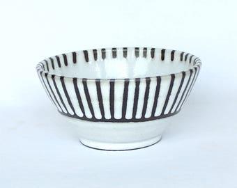 Bowls , White Modern Stripe , Salad Bowl , Ice Cream Bowl
