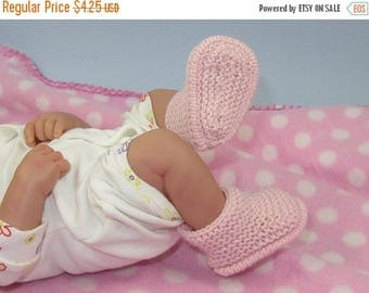 50% OFF SALE Instant Digital File PDF Download Knitting Pattern - Just for Preemies Premature Baby 4ply Garter Stitch Bumper Booties