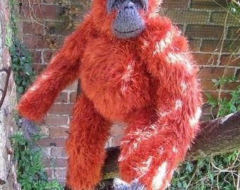50% OFF SALE My Pet Orangutan toy animal monkey knitting pattern immediate pdf digital download