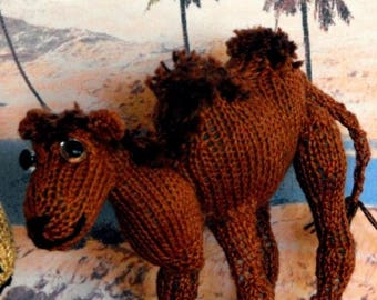 50% OFF SALE Instant Digital File pdf download knitting pattern - Cameron Camel toy animal pdf download knitting pattern.