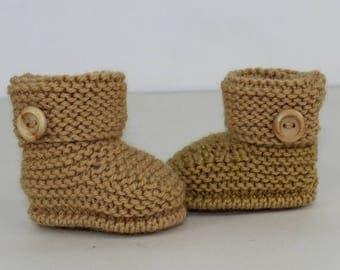 50% OFF SALE madmonkeyknits - Baby Simple Cuff Boots knitting pattern pdf download - Instant Digital File pdf knitting pattern