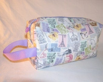 French Stamps Project Bag