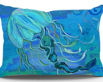 Jelly fish pillow case from my original art