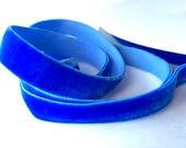 12mm blue velvet elastic ribbon trim 1/2 inch 12mm stretch ribbon for headbands sewing clothing hair accessories, blue elastic velvet ribbon