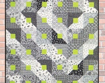PARADIGM SHIFT ©201O Modern Quilt Pattern by Nellie J Designs - NJD110 - paradigm shift quilt pattern