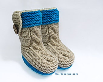Knitting Pattern- Baby Booties Pattern- Baby ShoesKnitting Pattern- Knitted with Two Needles n78