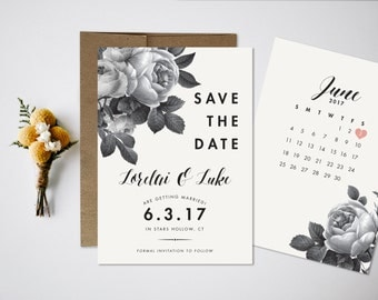 Save the Date, Wedding Save the Date, Vintage Save the Date, Save our Date, Wedding Invitation, Vintage Floral Save the Date