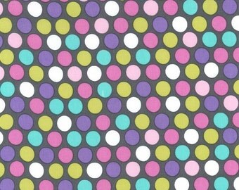 Michael Miller Fabric Diddly Dot in Orchid, Choose your cut