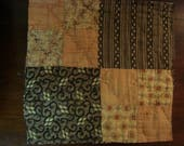 Primitive Early 1900 PA Amish Four Patch Quilt Block