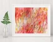 Abstract Printable Art - Abstract Art Print - Red Abstract Art - Abstract Expressionist Art - Instant Download - Modern Art Decor 8x10 11x14
