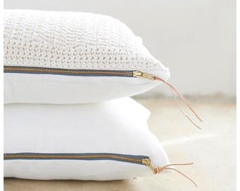 Hand-crocheted lumbar pillow - 24x12 inches. Place of honor on the sofa or in the bedroom. Free shipping to US retail orders