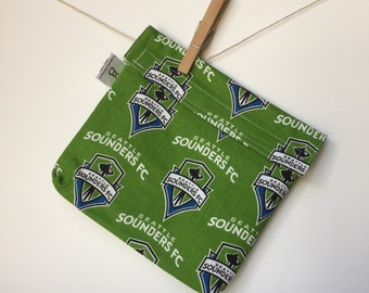 Reusable eco friendly washable Sandwich - Seattle Sounders on green