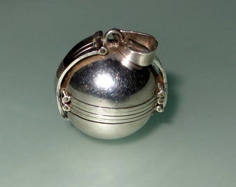 Sterling Silver 6 Photo Sphere Locket Pendant 925 Round 19g