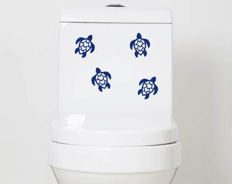 Turtle Vinyl Decals - Bathroom Decal, Vinyl Stickers, Sticker, Turtles, Toilet Decals, Bathroom
