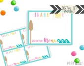 Hawaiian Thank You Card | Hawaii Party Thank You | Digital or Printed | Luau Party | Luau Thank You | Luau Thank You Card | Hawaiian