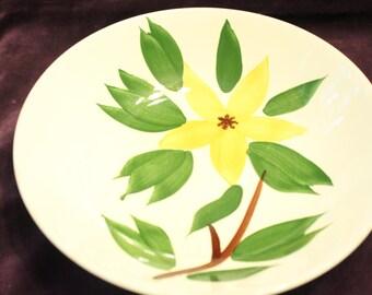 "Vintage Mid Century Golden Jasmine Large Bowl 9"""